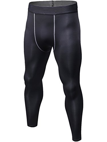 Lavento Men's Compression Pants Baselayer Cool Dry Running Ankle Leggings Active Tights