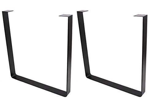 ECLV 710U Dining Table Legs, U-Shaped Heavy Duty Steel Table Legs, Office Table Legs, Computer Desk Legs, Industrial Kitchen Table Legs, Country Style Table Legs, 28