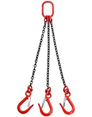 3-Leg Chain Sling, G80 Alloy Steel Chain Hoist Lift, Special Sling for Forklifts, Lifting Oil Drum Thickened Hook Clamp