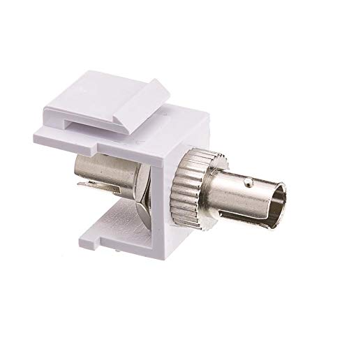 GOWOS Keystone, White, ST Fiber Optic Network Coupler