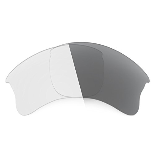Revant Replacement Lenses for Oakley Flak Jacket XLJ Elite Adapt Grey - Flak Photochromic Lenses Jacket