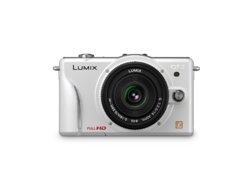 Panasonic Lumix DMC-GF2 12 MP Micro Four-Thirds Mirrorless Digital Camera with 3.0-Inch Touch-Screen LCD and 14mm f/2.5 G Aspherical Lens (White)