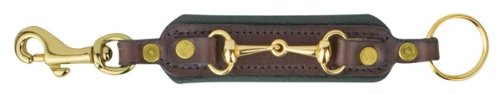 Havana Lime Perri's Padded Leather Bit Key Chain with Snap, One Size