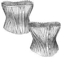 1876 Short Striped Jean Corset Pattern (Wyatt Earp Costume)