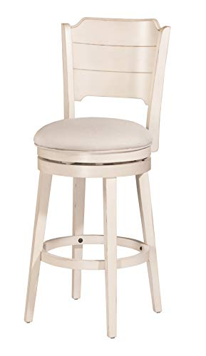 Hillsdale Furniture Clarion Stool, Sea White Wood Finish