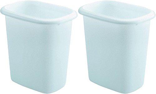 Rubbermaid Vanity Wastebasket,6-quart, 2 pack, White