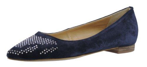 Tamaris 22147-30 Damen Ballerinas Veloursleder, Navy, Größe 37