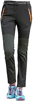LHHMZ Mujeres Pantalones Impermeables de Senderismo Transpirable Ligero Deportes al Aire Libre Secado r/ápido Pantalones Trekking De Escalada