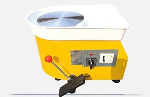 FINCOS 220V 250W 25cm EU Plug Pottery Wheel Machine Accessory for Ceramic Work Ceramics Clay DIY Tool Pottery Euipmqnt - (Color: Yellow)