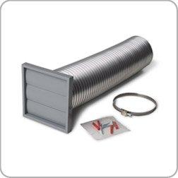 Manrose Cooker Hood Ventilation Kit, 125mm Diameter, Kitchen Ducting