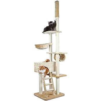 Amazon.com: Trixie Zaragoza ajustable gato Árbol, Beige ...