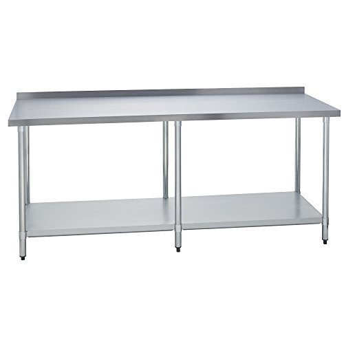 Fenix Sol Stainless Steel Commercial Kitchen Work Prep Table, 24