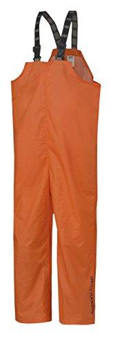 (Helly Hansen Workwear Men's Mandal Fishing and Rain Bib Pant, Dark Orange, Small)