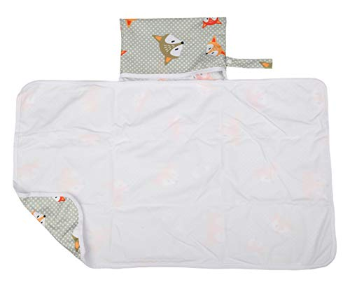 Sigzagor Baby Diaper Changing Mat Pad Portable Foldable Washable Compact Travel Nappy Waterproof Play Mat 30inx18.5in (Foxes)