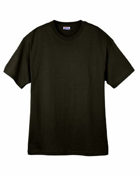 - Hanes 5.2 oz. ComfortSoft Cotton T-Shirt - DARK CHOCOLATE - S