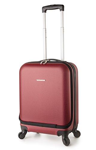 TravelCross Boston 21'' Carry On Lightweight Hardshell Spinner Luggage - Red