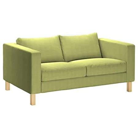 Pimp Your Couch Karlstad 2 Seater Sofa Er Leatherette Mexiko Olive Green