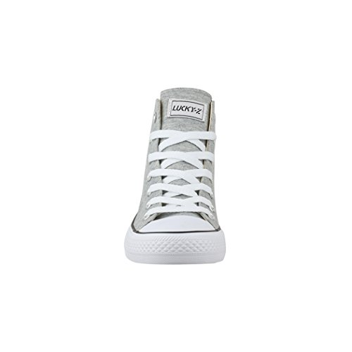 36 Donna Sport Uomo Top Scarpe Unisex Sneaker Sneakers Elara Per nbsp; Tessile High Scarpe qwSZxff