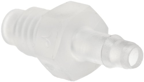 """Value Plastic M6430-6 Barbed Tube Fitting Adapter M6x1 Thread X 1/8"""" (3.2 mm) Tube ID Natural Polypropylene (pack of 25)"""
