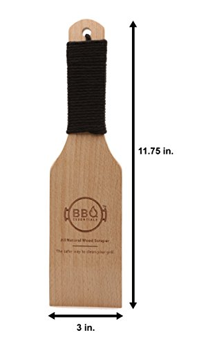 BBQ Essentials All Natural Wood Scraper - Safe, Small, Sustainable Solution to Grill Cleaning by BBQ Essentials (Image #1)