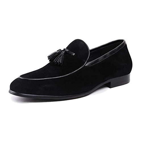 NIUMT Scarpe da Lavoro, da Lavoro, Casual, Scarpe da Uomo in Pelle, Scarpe Pigre, Eleganti E Confortevoli Black