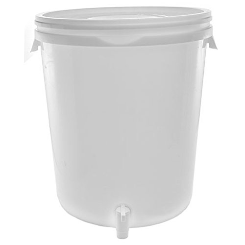 Cater Strong - 8 gal. Round White Plastic Beverage (Plastic Round Beverage Dispenser)