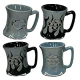 Harley Davidson Mini Flame Mug Shot Set