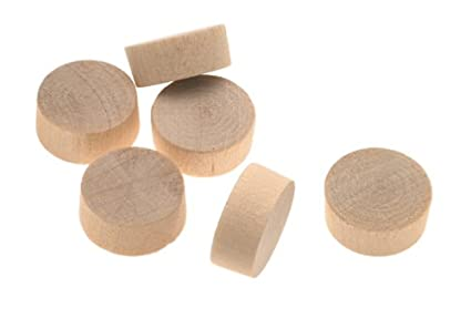 "Cindoco F34F 3/4"" Birch Flat Head Screwhole Plugs 6 Per Bag"