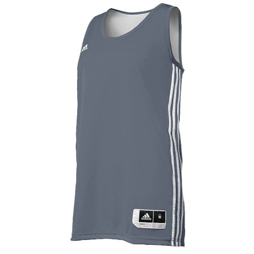 - Adidas Womens Reversible Basketball Practice Jersey XS White/Lead