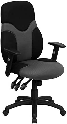 Flash Furniture High Back Ergonomic Black and Gray Mesh Swivel Task Office Chair