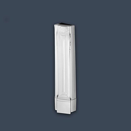 Decorative Mantel Piece Orac Decor H100C LUXXUS Support Stucco column Decorative Element white vertical element right