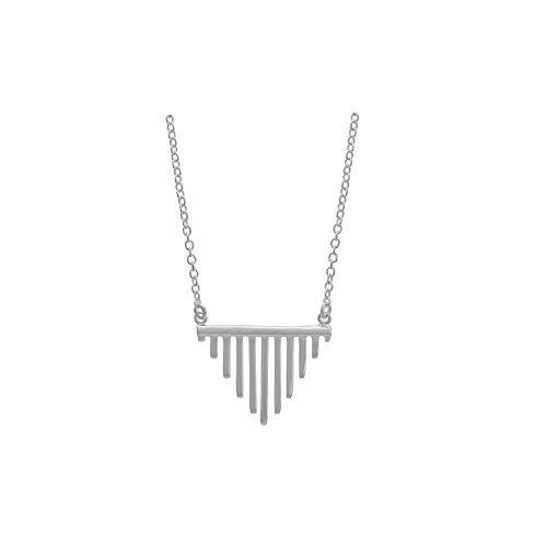 Boma Jewelry Sterling Silver Triangle Fringe Necklace, 20 Inches