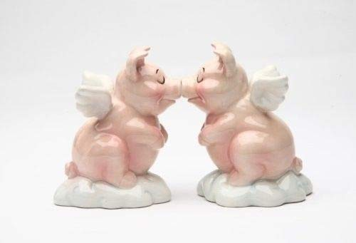 ShopForAllYou Figurines and Statues Magnetic Salt and Pepper Shaker - Hog Heaven
