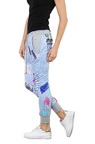 si moda Pantalón - Tiro Caído - para Mujer gris