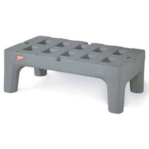 Metro HP2260PDMB Bow-Tie Polyethylene Dunnage Rack with Microban Antimicrobial, 3000 lbs Capacity, 60