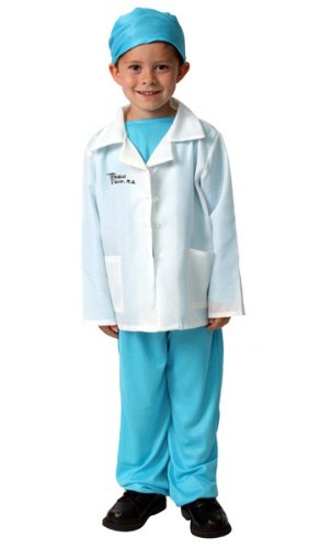 kids blue medical doctor play career dressup halloween costume 68 - Kids Doctor Halloween Costume