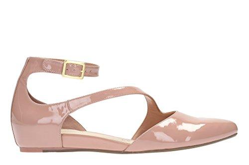 Clarks Fiesta Mujer Zapatos Coral Fizz En Piel Rosa