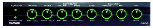 SSL S4EQ 4 Band Pre-Amp Equalizer with Subwoofer Control - Eq Crossover