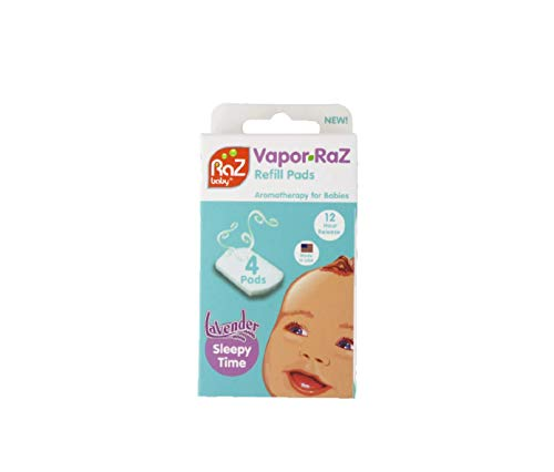 Vapor-RaZ Refill Pads/Lavender / Soothing Aromatherapy for Calming and Relaxing your Baby Naturally / 4 Pack