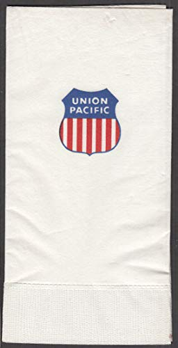 Union Pacific Railroad logo paper napkin unused ca 1960s