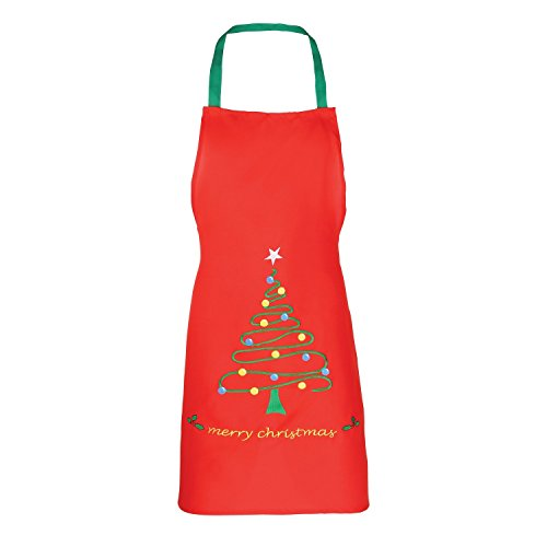Christmas Shop Unisex Christmas Apron (2 Designs) (One Size) (Red Tree) -