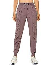 CRZ YOGA Pantalones deportivos ligeros de cintura alta para mujer, con cordón, suaves, para viajes, con bolsillos