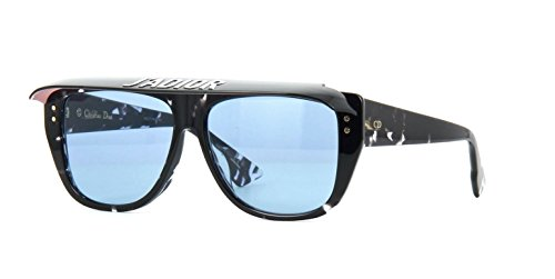 Authentic Christian Dior Club 2 09WZ/KU Havana Black Crystal Sunglasses