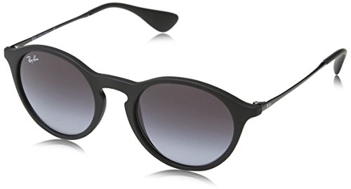 Ray-Ban INJECTED UNISEX SUNGLASS - RUBBER BLACK Frame GREY GRADIENT DARK GREY Lenses 49mm - 49mm Sunglasses