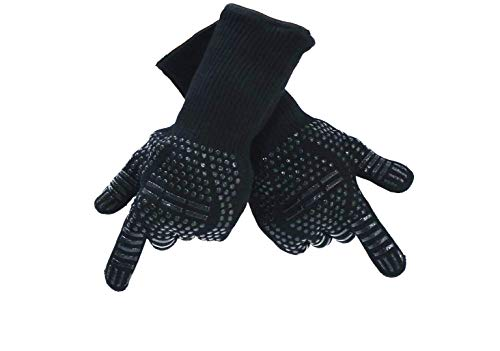 DAMO Anglink BBQ Grill Gloves, 1472°F Extreme Heat Resistant Grilling Gloves for Cooking, Baking and for Smoker, Silicone Insulated Cooking Oven Mitts ()