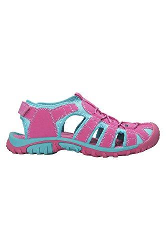 Mountain Warehouse Bay Sandalen Für Kinder - Sandalen Aus Neopren, Bequeme Kinder-Flipflops, Zwischensohle, Verstellbare Sommerschuhe- Ideale Schuhe Für Wandern, Reisen Leuchtendes Pink