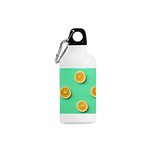 Outdoor Simple Fashion Travel Lemon And Orange Clementine Twig Fruits Delicious Winter Vitamin Design Print Design Sport Water Bottle Aluminum Stainless Steel Bottle Aluminum Sport Water ()