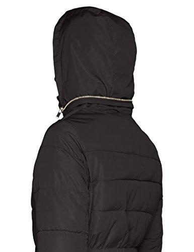 Manteau Pour noir 1 Ajusté Rembourré New Femmes Look wIrIOFq