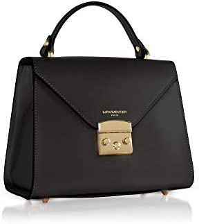 LE PARMENTIER Luxury Fashion Femme 070BLACK Noir Cuir Sac À Main | Printemps-été 20