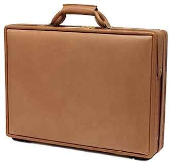 5800 Leather (Hartmann Belting Leather Deluxe Slimline Attache Briefcase with Fan File 5800)